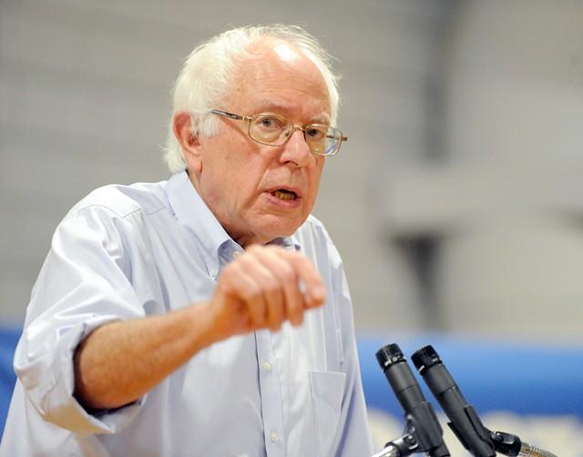 Sen. Bernie Sanders last month in New Hampshire - FILE: JAMIE GEMMITI