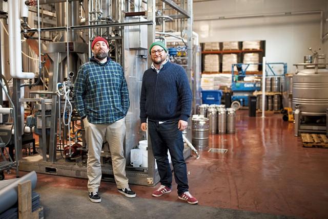 Matt Wilson (left) and Kris Nelson at Zero Gravity Craft Brewery - COURTESY OF KATIE PALATUCCI