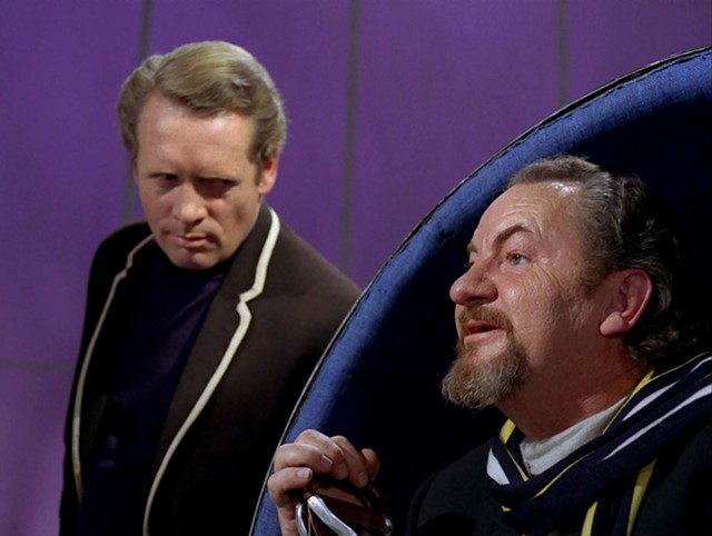 """Patrick McGoohan and Leo McKern (one of the best of the Number Twos) in """"The Prisoner"""" - EVERYMAN FILMS / ITC"""