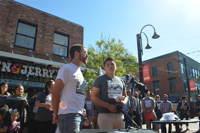 Will Lambek, left, and Enrique Balcazar of Migrant Justice - FILE: KATIE JICKLING