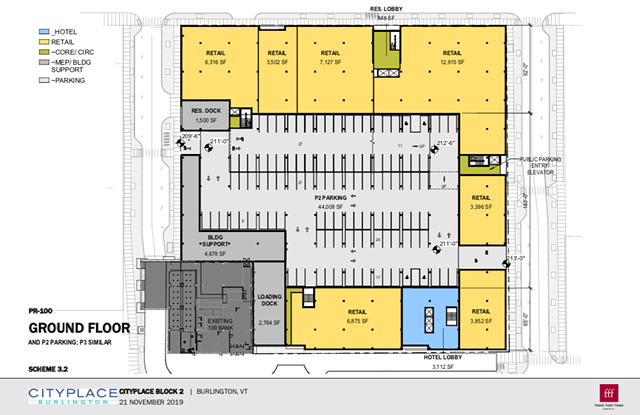 CityPlace 2.0 will feature seven retail storefronts and other amenities. - CITY OF BURLINGTON