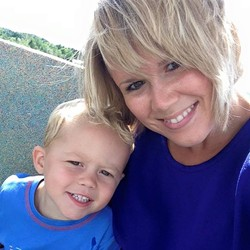 Brittney Larrabee Wilson and her son, Gage - COURTESY