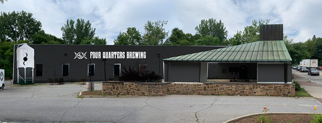 Rendering of the Four Quarters brewery and taproom proposal at 70 Main Street in Winooski - COURTESY OF FOUR QUARTERS BREWING