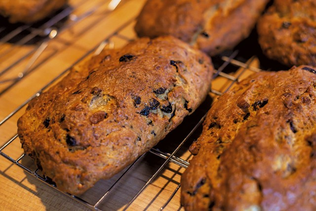 Student-made stollen fresh from the oven at Brot Bakehouse School and Kitchen - GLENN RUSSELL