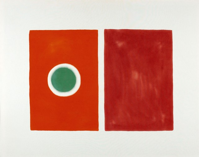 """Untitled (Green Eye)"" by Paul Feeley - COURTESY OF BENNINGTON MUSEUM"