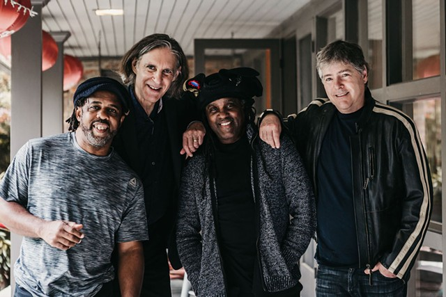 From left: Victor Wooten, Howard Levy, Future Man and Béla Fleck - COURTESY OF GEMHOUSE MEDIA