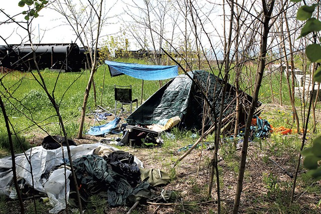 A camp off the bike path - FILE: COURTNEY LAMDIN