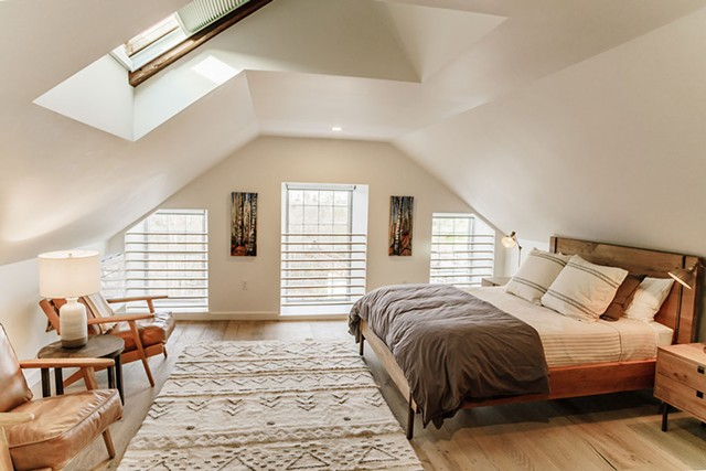 Interior design by Slate at Stone Mill lodging in Middlebury - PHOTOS COURTESY OF JASON DUQUETTE HOFFMAN