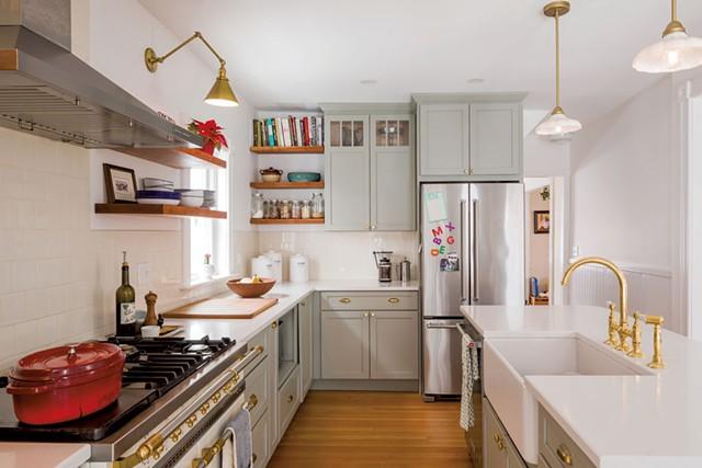 The renovated kitchen in Becca Brown McKnight's Burlington home - OLIVER PARINI