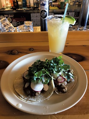 Goat tacos and a margarita at the Mad Taco in Waitsfield - SALLY POLLAK