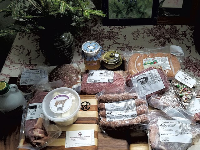 Products available at the Vermont Food Collaborative - COURTESY OF THE VERMONT FOOD COLLABORATIVE