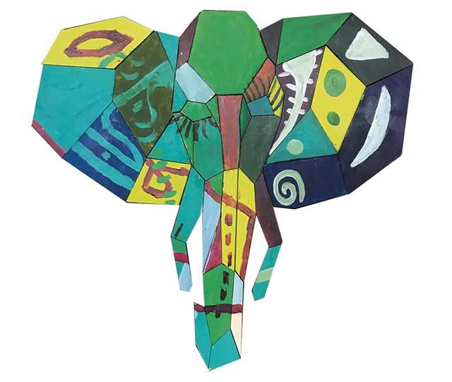 Mary Lacy's elephant Paint Puzzle - COURTESY OF MARY LACY