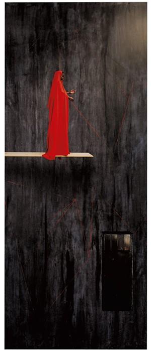 """""""Red Trampoline"""" by Maïmouna Guerresi - COURTESY OF BCA CENTER/SAM SIMON"""
