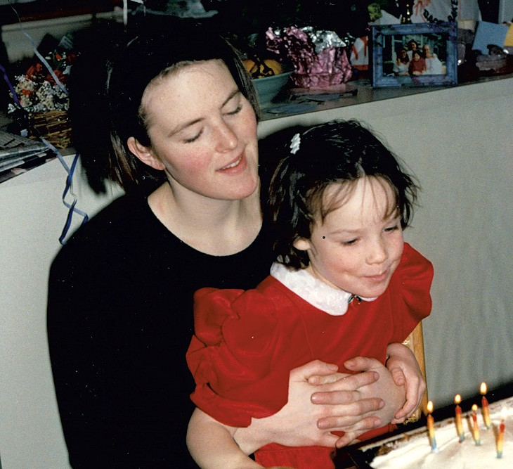 Kate O'Neill with Maddie in 1993 - COURTESY OF KATE O'NEILL