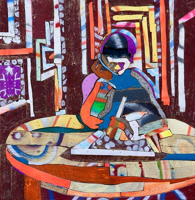 """Indentation"" by Harlan Mack - COURTESY OF HELEN DAY ART CENTER"