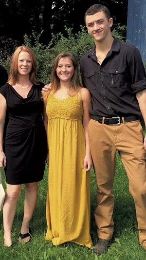 Chase with mom Heather (left) and sister Lindsey