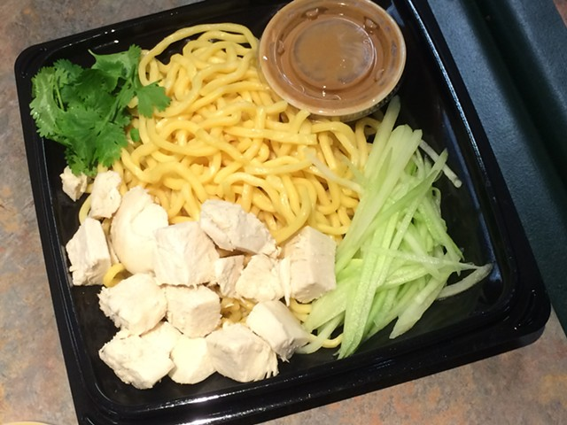 Spicy peanut noodles with chicken, $5.39 - ALICE LEVITT