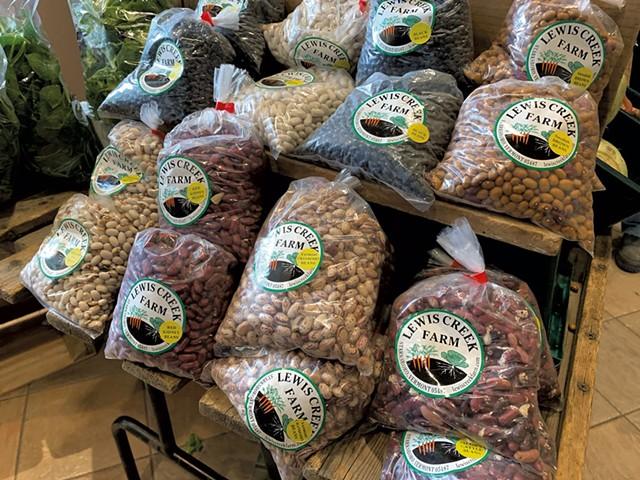 Lewis Creek Farm beans at the Burlington Farmers Market - MELISSA PASANEN
