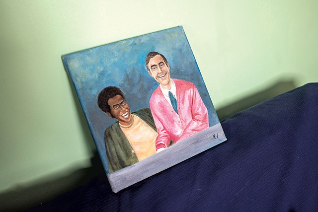 Portrait of François Clemmons and Fred Rogers - CALEB KENNA