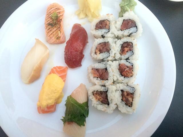 Special sushi sampler at San Sai Japanese Restaurant - ALICE LEVITT