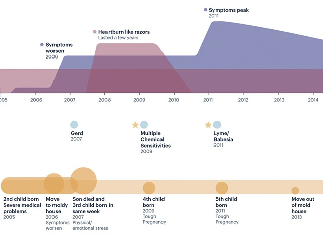 Sample timeline - COURTESY OF KATIE MCCURDY