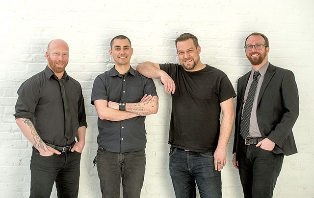 From left: Aaron Wisniewski, Matt Flego, Erik Cooper and Sam Wisniewski - COURTESY OF OVR TECHNOLOGY