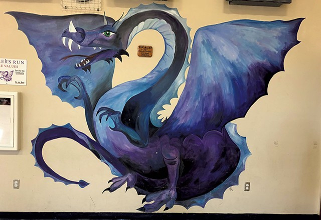 """""""Draco"""" mural at Miller's Run School in Sheffield - PHOTOS COURTESY OF VERMONT ARTS COUNCIL"""