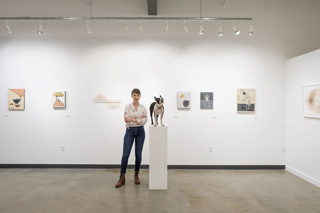 Owner Patricia Trafton with her dog, Potato - LUKE AWTRY