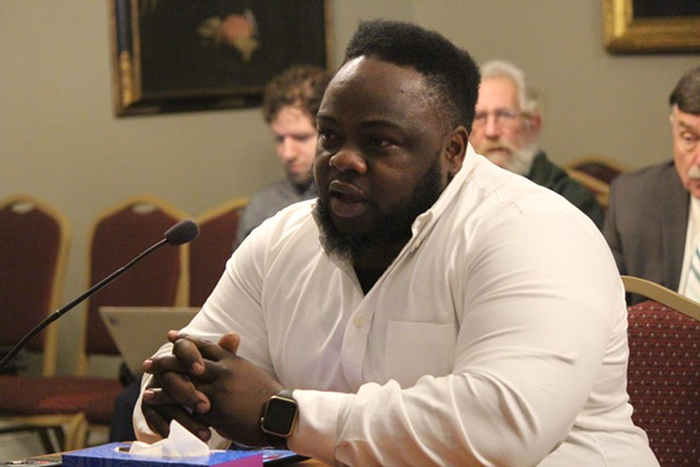 Adolphe Lumumba testifying before the House Judiciary Committee on Wednesday - PAUL HEINTZ