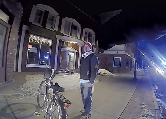 Vincent Ford as captured on bodycam footage - STILL FROM BODYCAM FOOTAGE