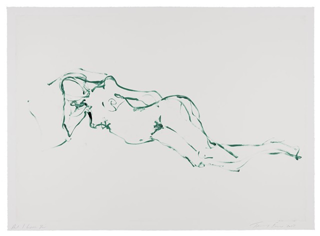 """""""And I Love You"""" by Tracey Emin - COURTESY OF HELEN DAY ART CENTER/MOMA"""