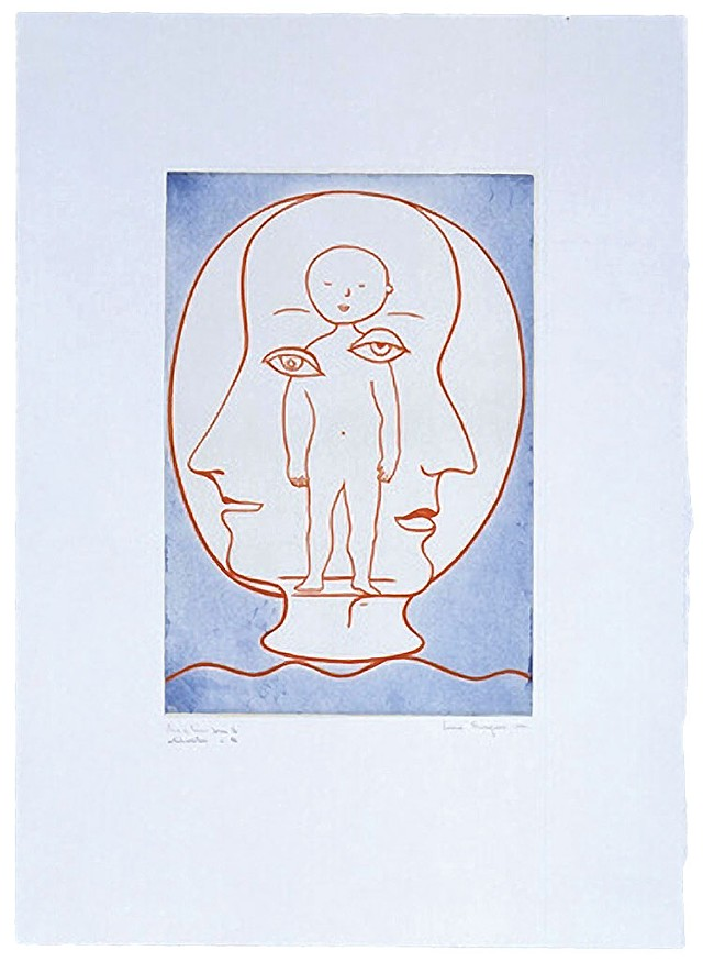 """Self-Portrait"" by Louise Bourgeois - COURTESY OF HELEN DAY ART CENTER/MOMA"