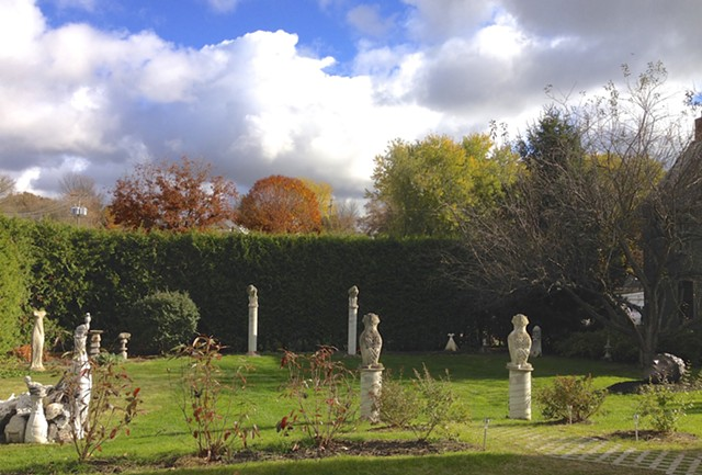 Fry's sculpture garden in fall 2014 - COURTESY OF LESLIE FRY