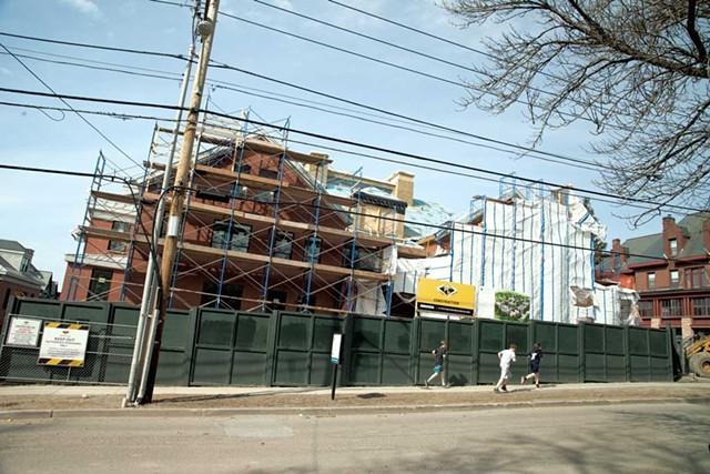 A Champlain College dorm under construction last year - FILE: MATTHEW THORSEN