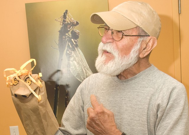 Frank Gonzales in 2009, with puppet.