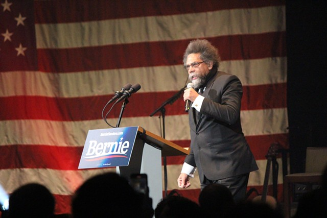 Cornel West speaks Saturday in Cedar Rapids. - PAUL HEINTZ