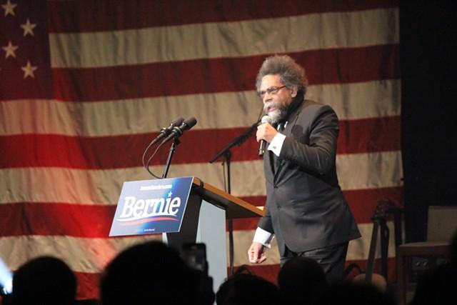 Cornel West speaks Saturday in Cedar Rapids. - PAUL HEINTZ