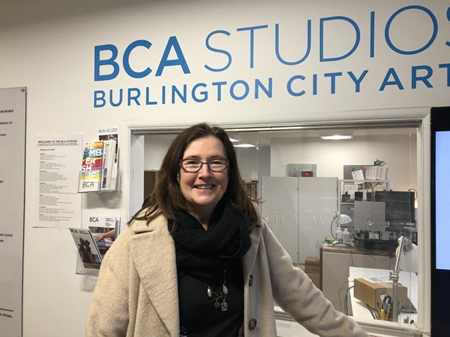 Doreen Kraft, director of Burlington City Arts, at 405 Pine Street. - MOLLY WALSH