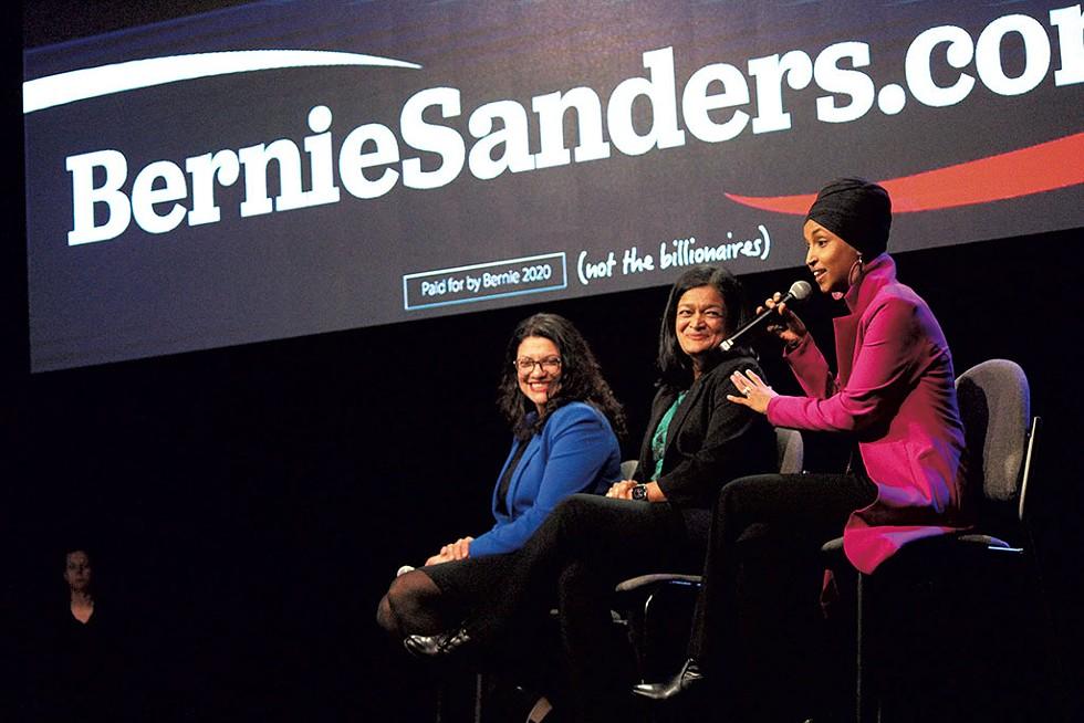U.S. Reps. Rashida Tlaib, Pramila Jayapal and Ilhan Omar - PAUL HEINTZ