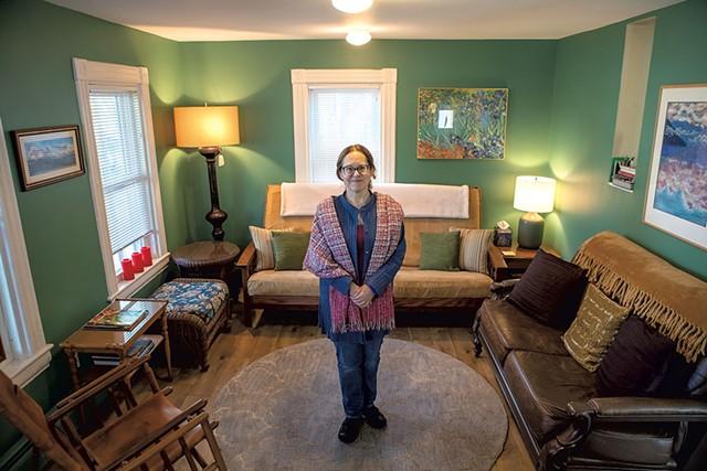 Deb Lyons in her Airbnb - LUKE AWTRY