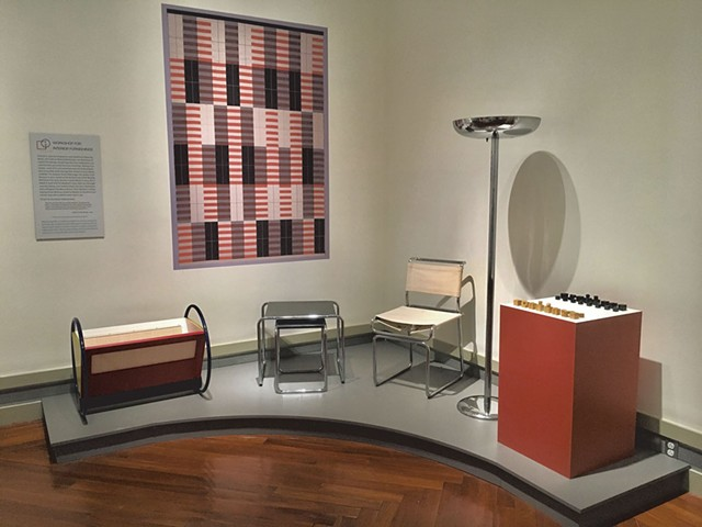 Bauhaus workshop installation built by Ken Pohlman - COURTESY OF MIDDLEBURY COLLEGE MUSEUM OF ART