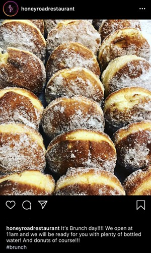 Honey Road's Instagram post on Sunday - COURTESY OF HONEY ROAD
