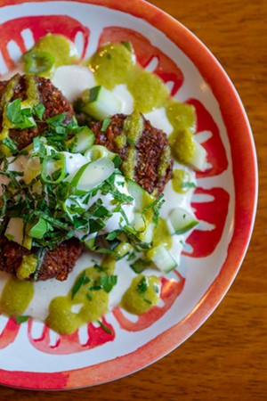 Falafel at the Hippie Chickpea - JEB WALLACE-BRODEUR