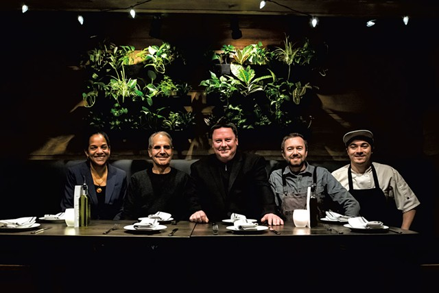 From left: Leslie McCrorey Wells, John Rao, Jeremy Venditto, Tim Peters and Jamie MacLeish - LUKE AWTRY