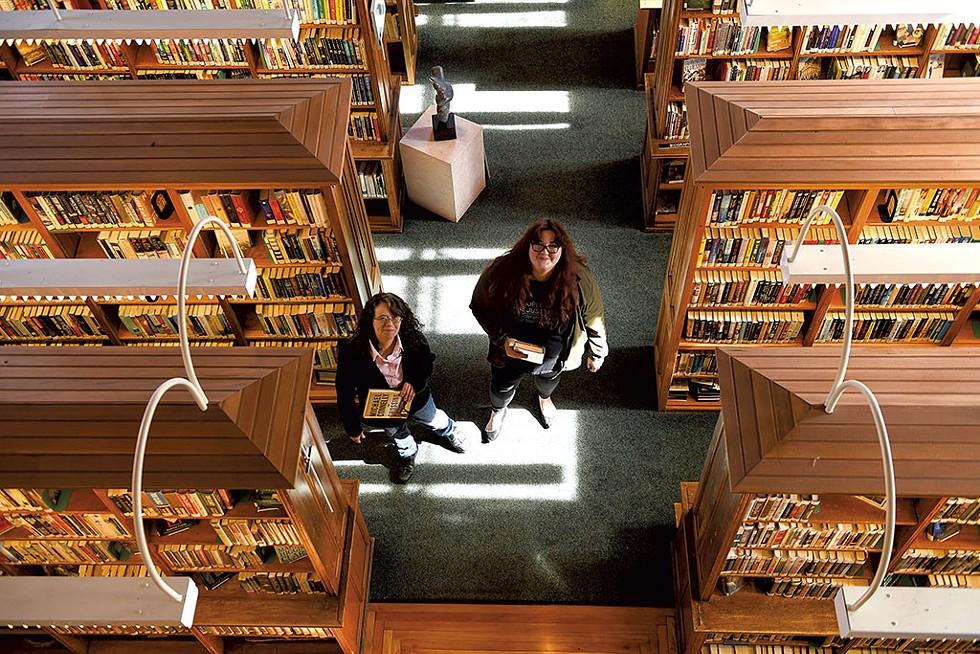 Shelly Williams (left) and Elizabeth Soulia - CALEB KENNA