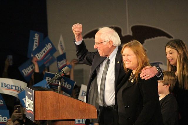 Sen. Bernie Sanders (I-Vt.) and Jane O'Meara Sanders - FILE: PAUL HEINTZ