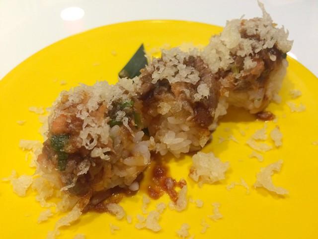 Salmon teriyaki roll, $5 - ALICE LEVITT