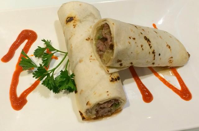 Beef wrap, $5 - ALICE LEVITT
