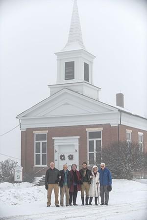 From left: David Andrews, Dan Wright, Heidi Willis, Rev. Daniel Cooperrider, Carol Spooner and Reggie Spooner - CALEB KENNA