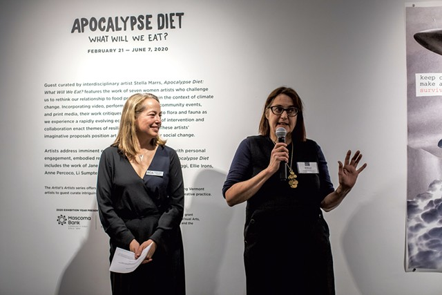 BCA Center curator and director of exhibitions Heather Ferrell (left) and guest curator Stella Marrs - LUKE AWTRY